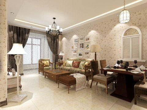 90平米简欧风格三居室装修效果图