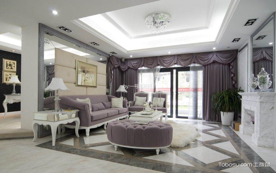 150平米欧式风格三居室装修效果图