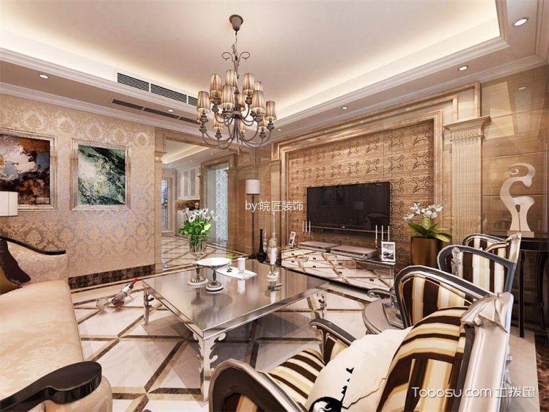 天下锦城欧式三居室家居设计效果图