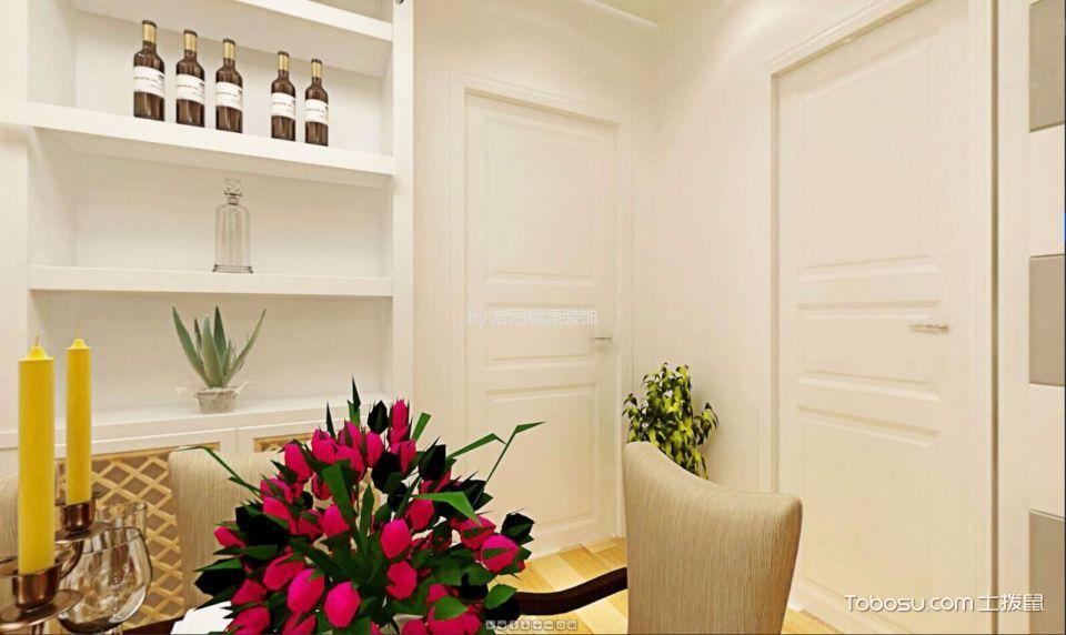 餐厅白色细节现代简约风格装潢设计图片