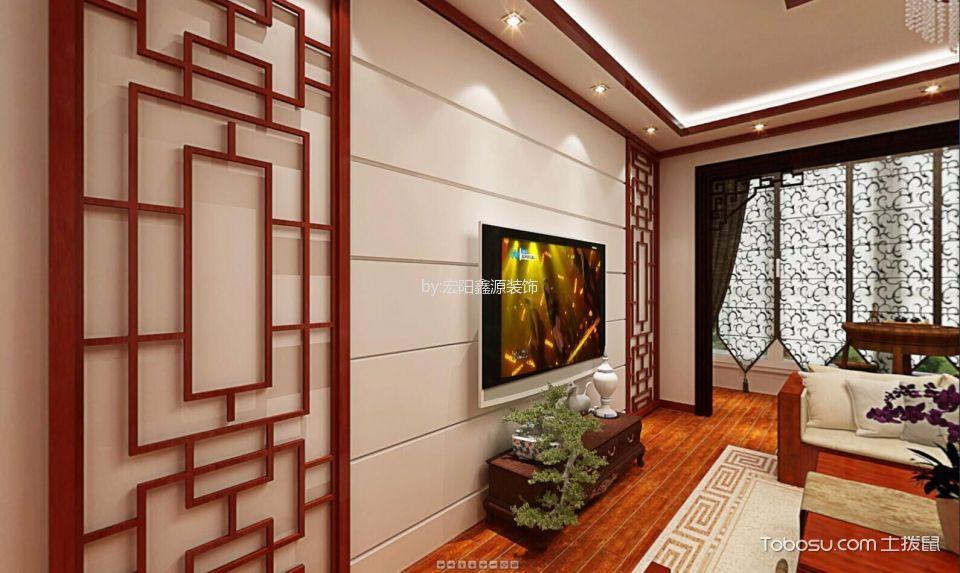 2020中式客厅装修设计 2020中式电视柜装修效果图片