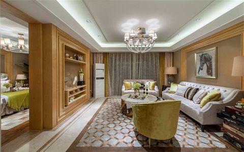 2021欧式90平米效果图 2021欧式二居室装修设计