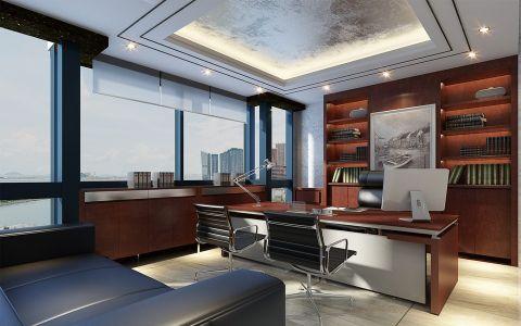 350平办公室新中式风格装修效果图
