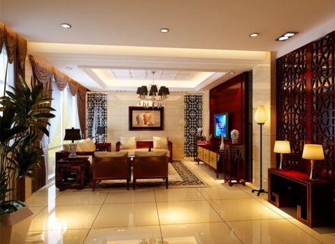 私人别墅900平简中式风格效果图