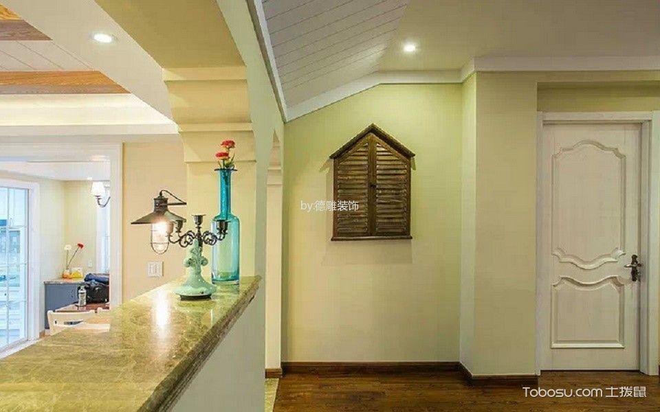 玄关咖啡色地砖美式风格装修图片
