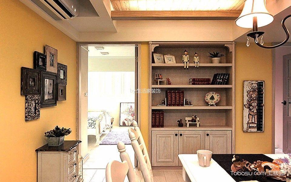 餐厅橙色照片墙美式风格装饰设计图片