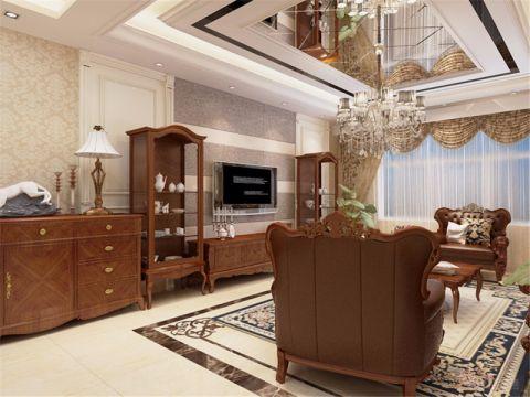 中海原山大户型别墅设计美式风格效果图