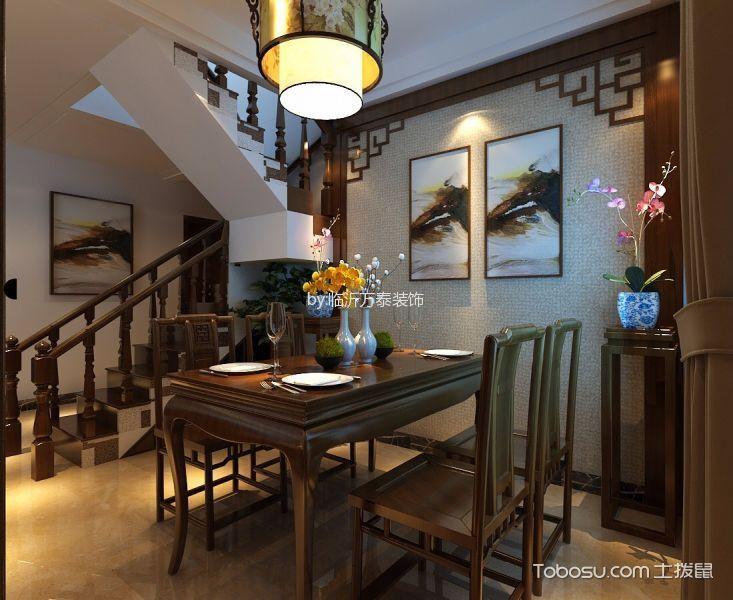 200平米新中式风格三居室装修效果图