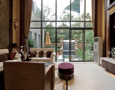 客厅窗帘东南亚风格装饰设计图片