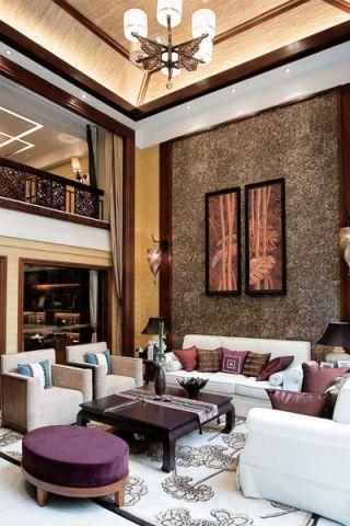 客厅背景墙东南亚风格装修图片