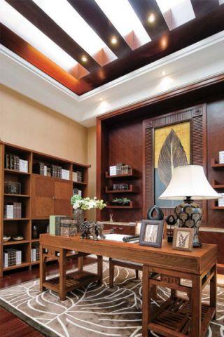 书房博古架东南亚风格装饰图片