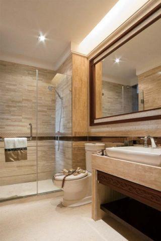 卫生间推拉门东南亚风格装潢图片