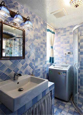 卫生间背景墙地中海风格装修设计图片
