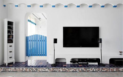 客厅博古架地中海风格效果图