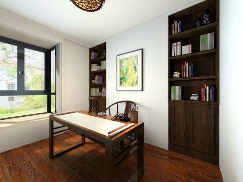书房背景墙中式风格装修效果图