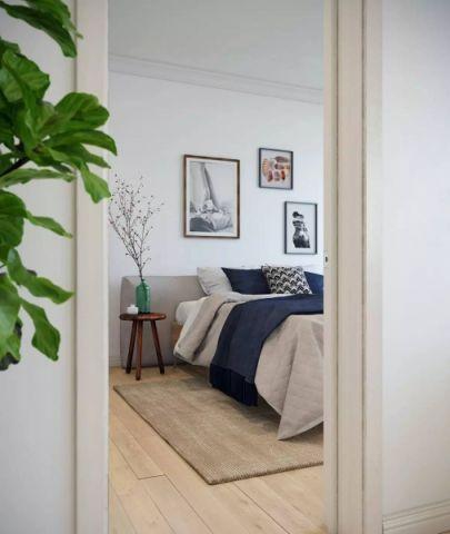 卧室照片墙北欧风格装潢效果图