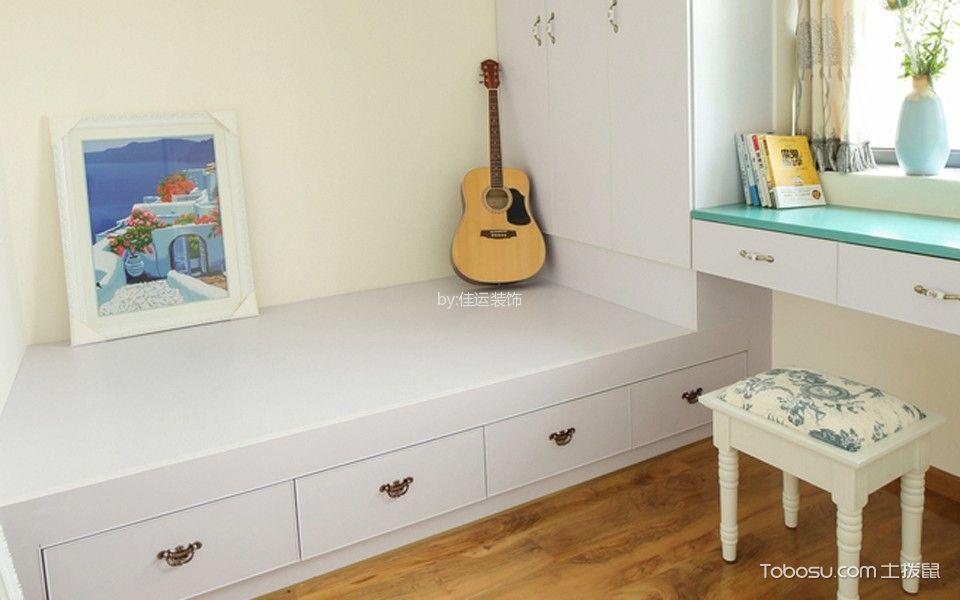 儿童房白色榻榻米地中海风格装饰设计图片