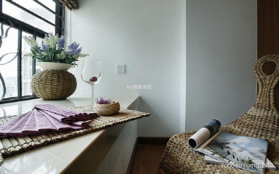 书房白色书桌现代简约风格装潢设计图片