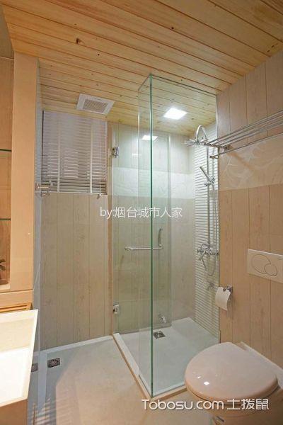 卫生间白色隔断新中式风格装潢设计图片
