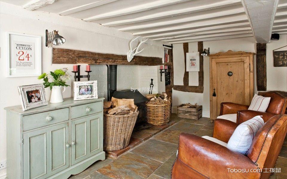 客厅白色阁楼北欧风格装饰设计图片_土拨鼠装修效果图