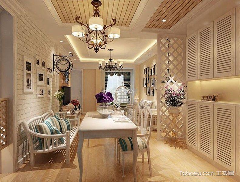 客厅黄色地板砖田园风格装潢图片