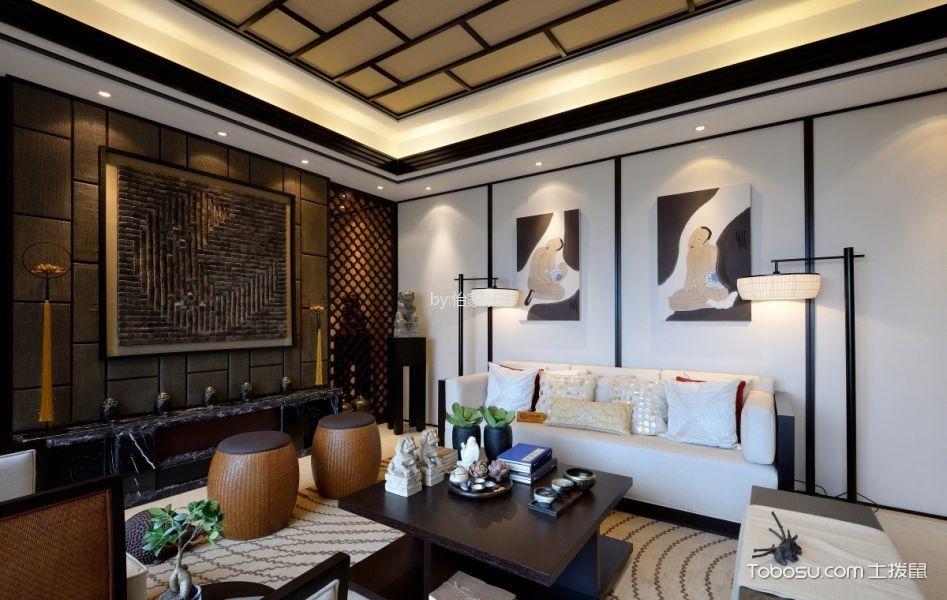 245平米叠拼别墅新中式装修风格