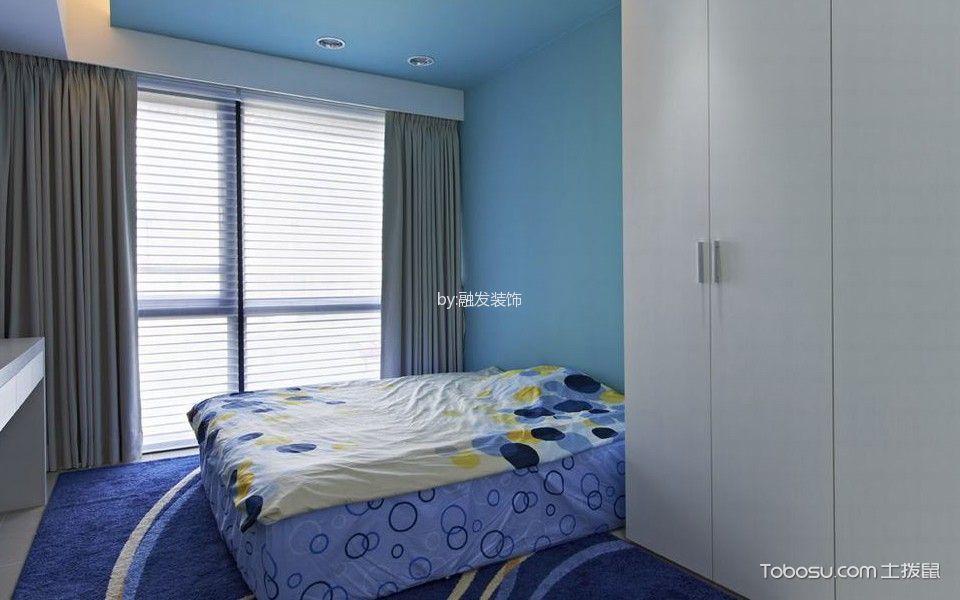儿童房灰色窗帘混搭风格装修图片