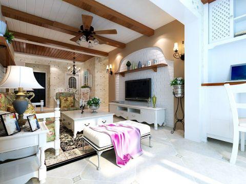 绵阳东源长岛86平米田园风格两居室装修效果图