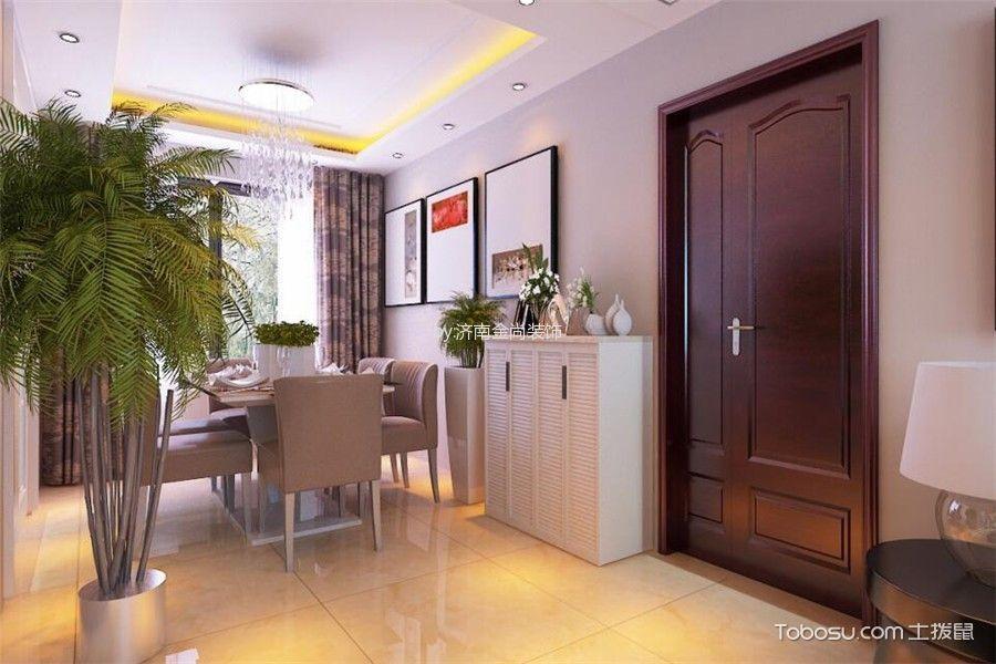 济南中海华山珑城128平米简约风格效果图