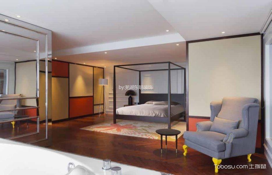 卧室咖啡色走廊混搭风格装潢效果图