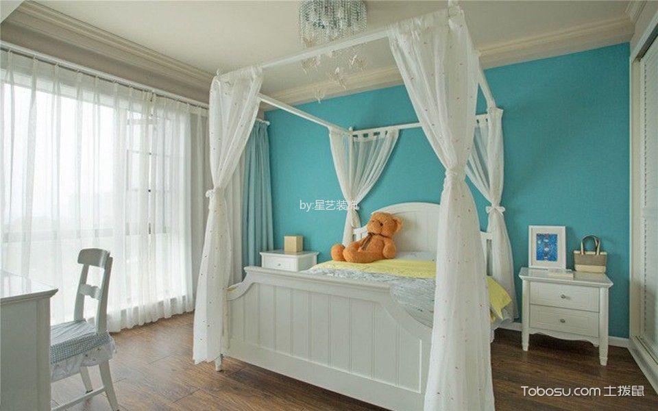 儿童房白色窗帘新中式风格装饰图片