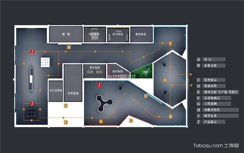 照明展厅平面图
