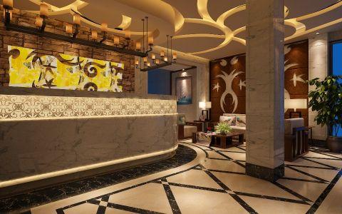金山桥静海宾馆混搭风格装修效果图