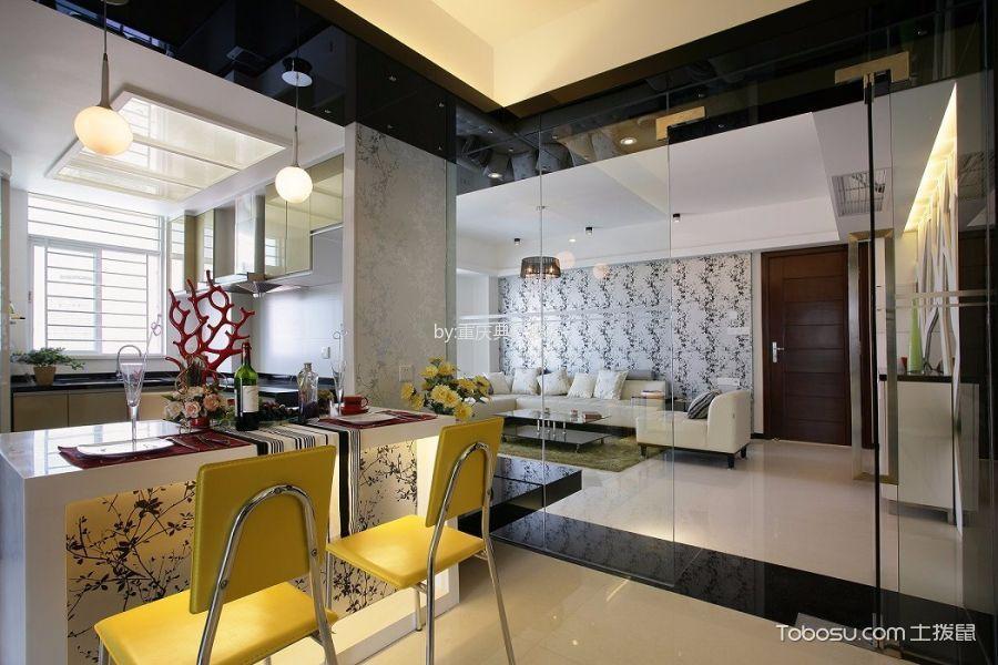 餐厅白色吧台现代风格装饰效果图