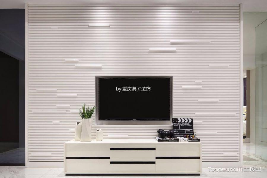 客厅白色电视背景墙简约风格装饰效果图