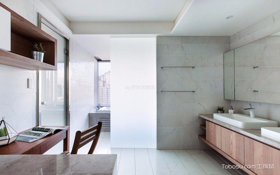 卫生间咖啡色吧台现代简约风格装饰效果图