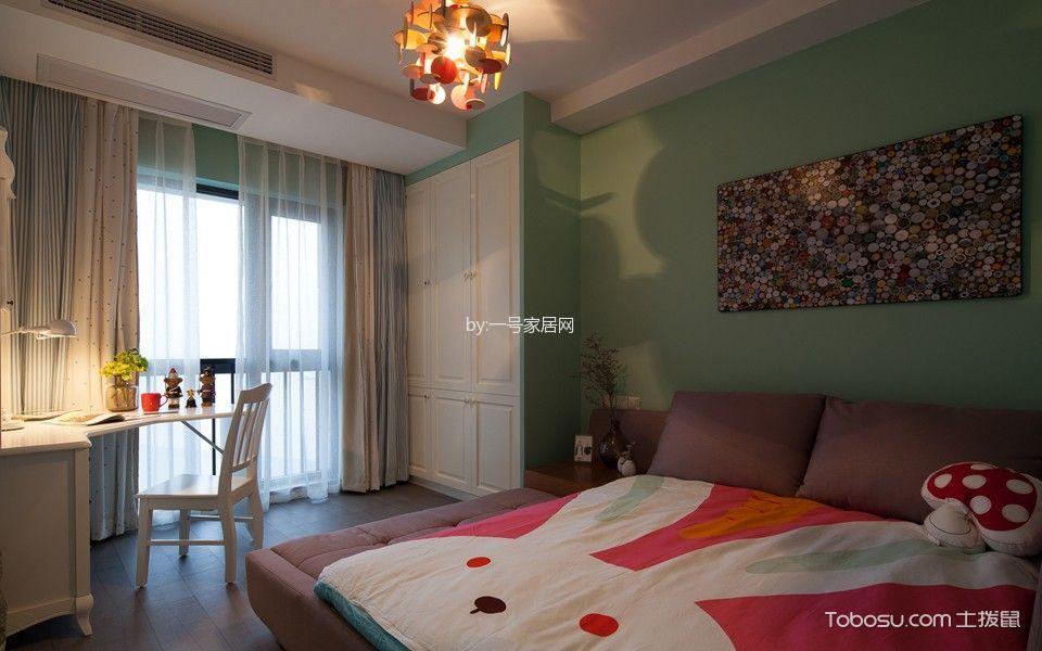 卧室白色书桌北欧风格装修图片