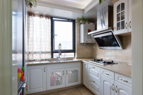 美式厨房窗帘装修案例效果图
