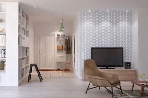 保利居上二居室现代原木风装修效果图