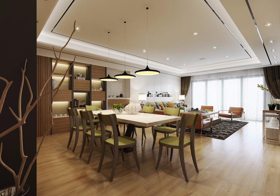 3室1卫2厅113平米现代风格