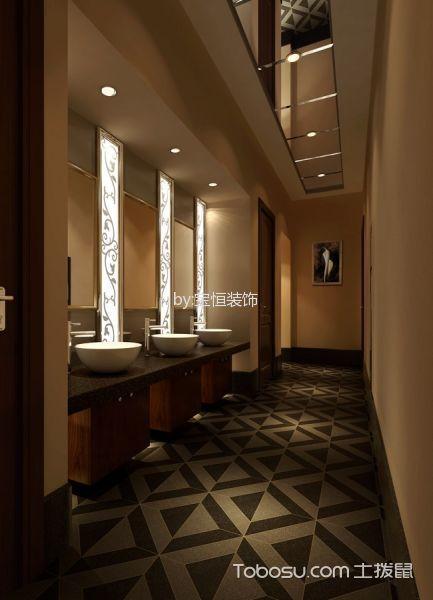 洗浴会所卫生间设计效果图