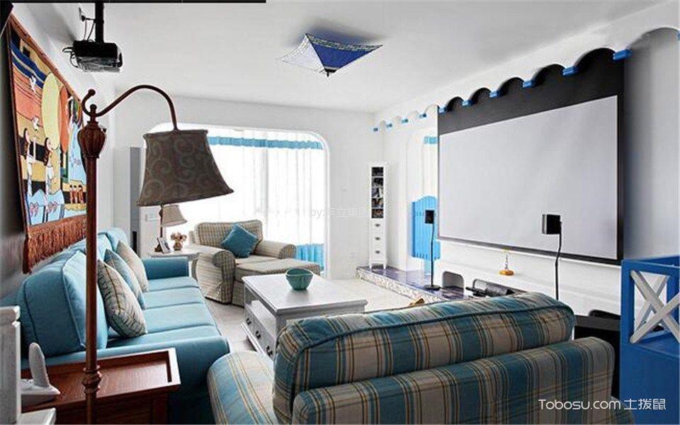 2020地中海客厅装修设计 2020地中海茶几效果图