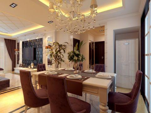 胶州新城水岸府邸150平新古典欧式装修设计图