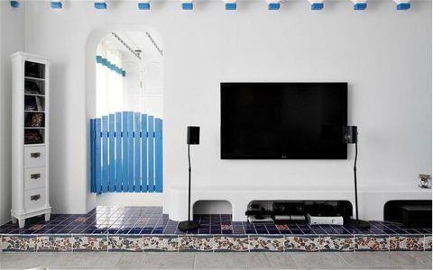 2018地中海客厅装修设计 2018地中海电视背景墙图片