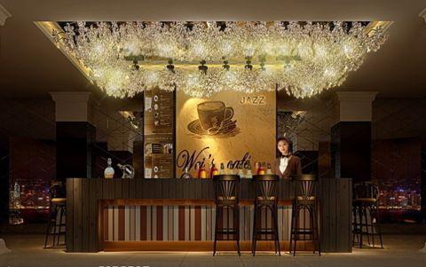 河北区咖啡厅简欧风格装修效果图