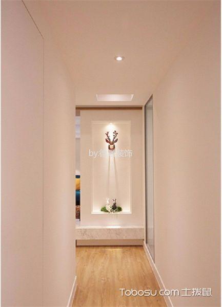 玄关橙色走廊现代风格装潢设计图片
