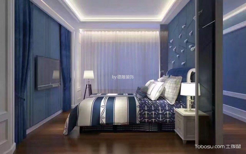 卧室白色窗帘现代中式风格效果图