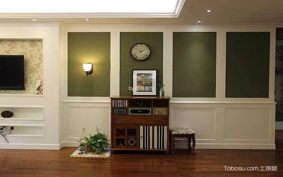 客厅咖啡色走廊美式风格装修图片