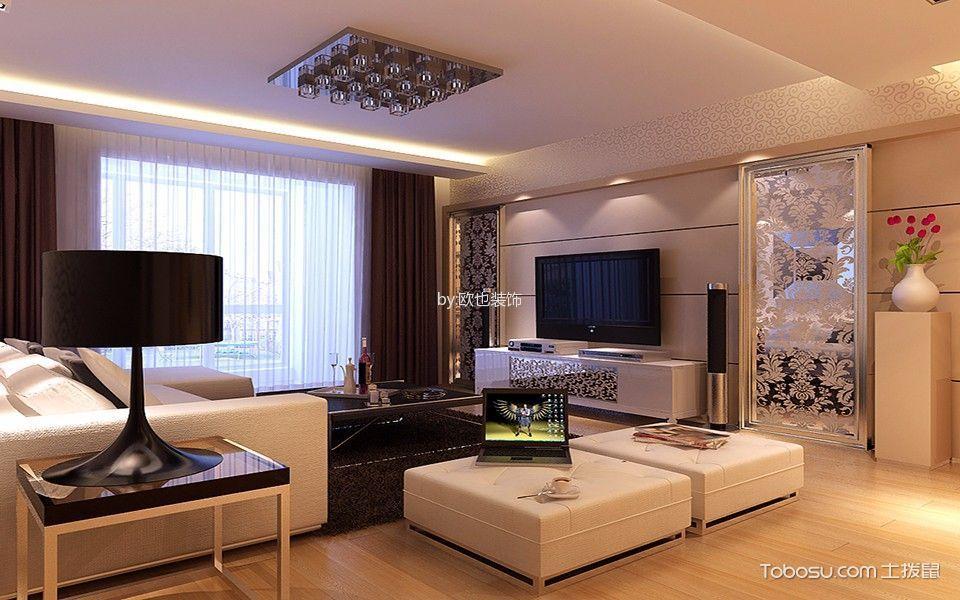 重庆鲁能领秀城89平米现代简约风格效果图