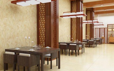 大型新中式餐馆装修效果图